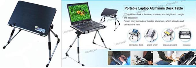 Computer Laptop Notebook Stand Table Bed Desk